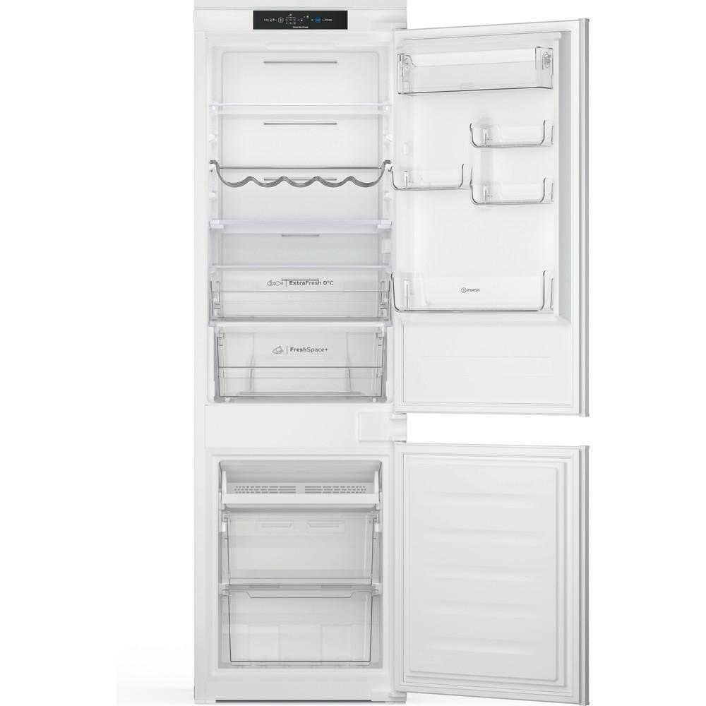 Indesit Combiné réfrigérateur congélateur Encastrable INC18 T332 Blanc 2 portes Frontal open