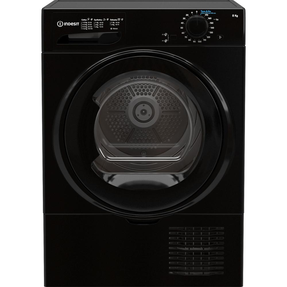 Indesit Dryer I2 D81B UK Black Frontal