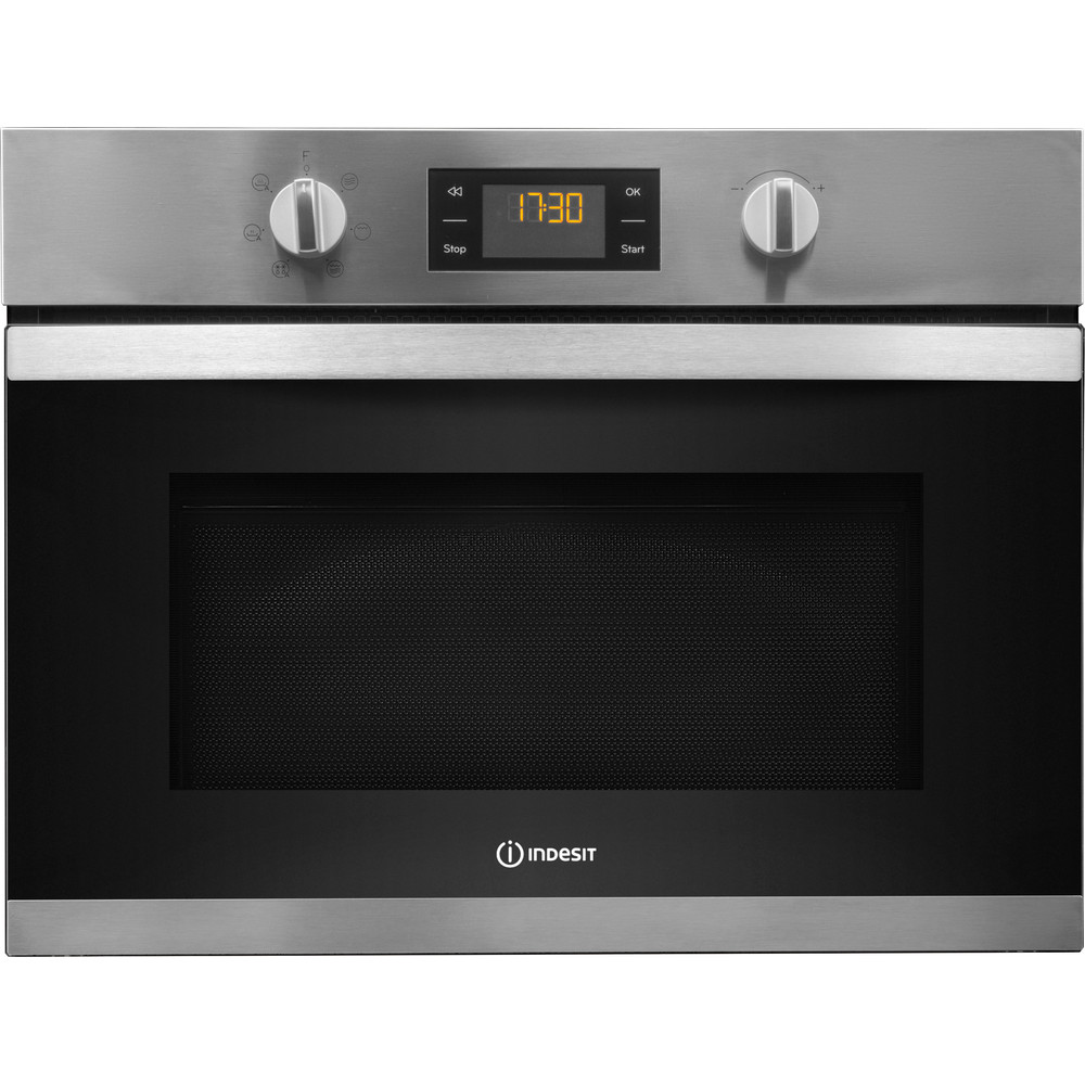 Indesit Microwave Built-in MWI 3443 IX UK Inox Electronic 40 MW+Grill function 900 Frontal