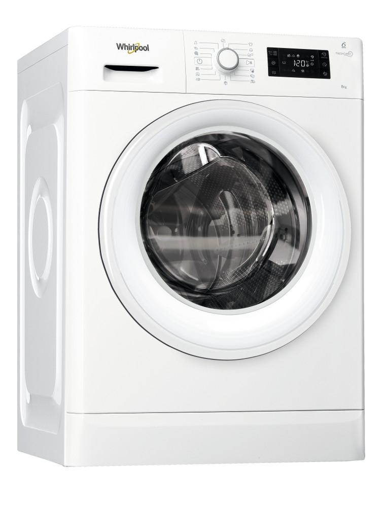 Whirlpool Waschmaschine Standgerät FWG81484WE EU Weiss Frontlader A+++ Perspective
