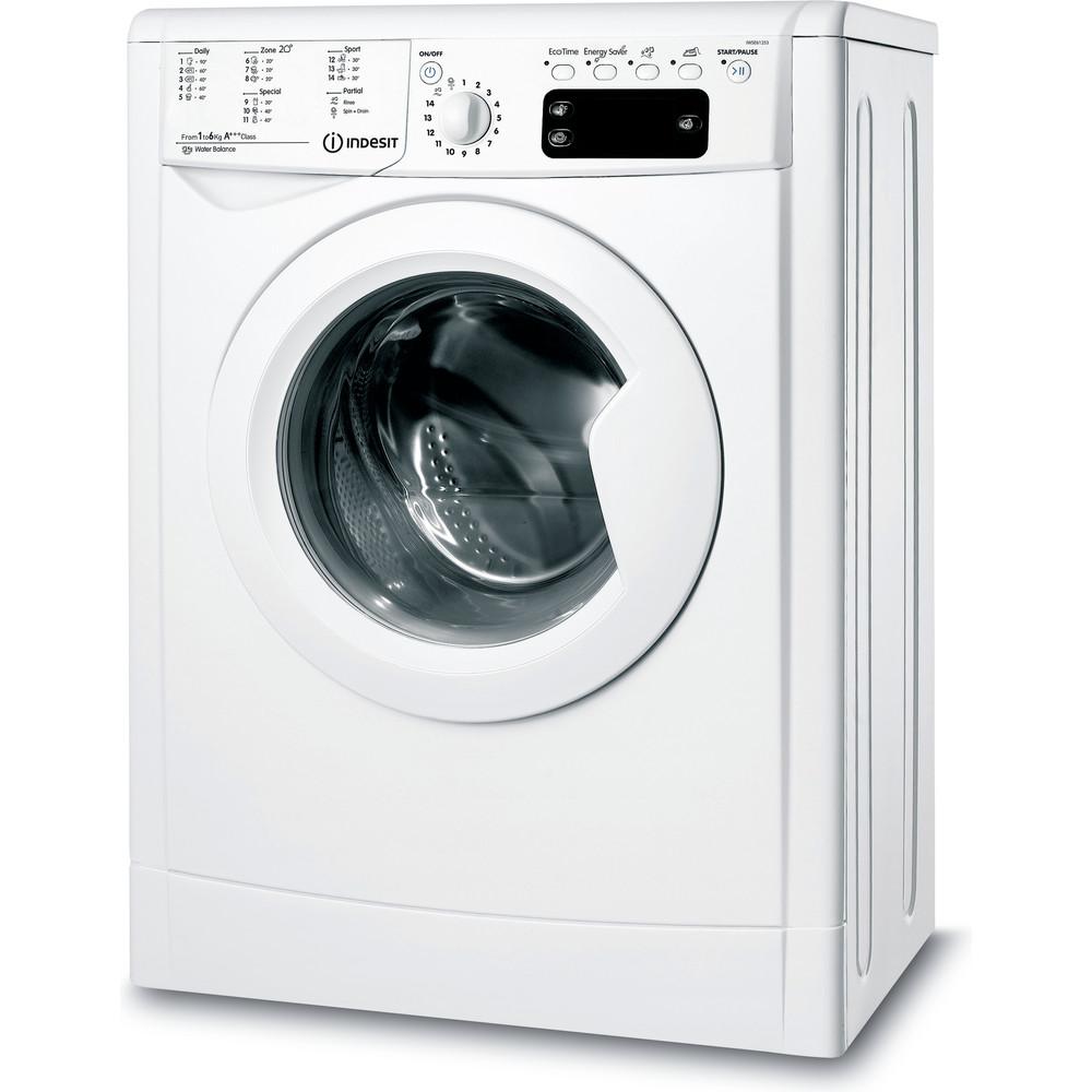 Indesit Pračka Volně stojící IWSE 61253 C ECO EU Bílá Front loader A+++ Perspective