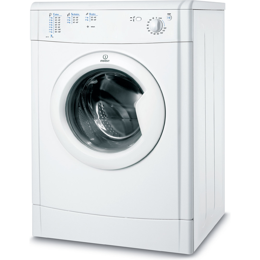Indesit Dryer IDV 75 (UK) White Perspective