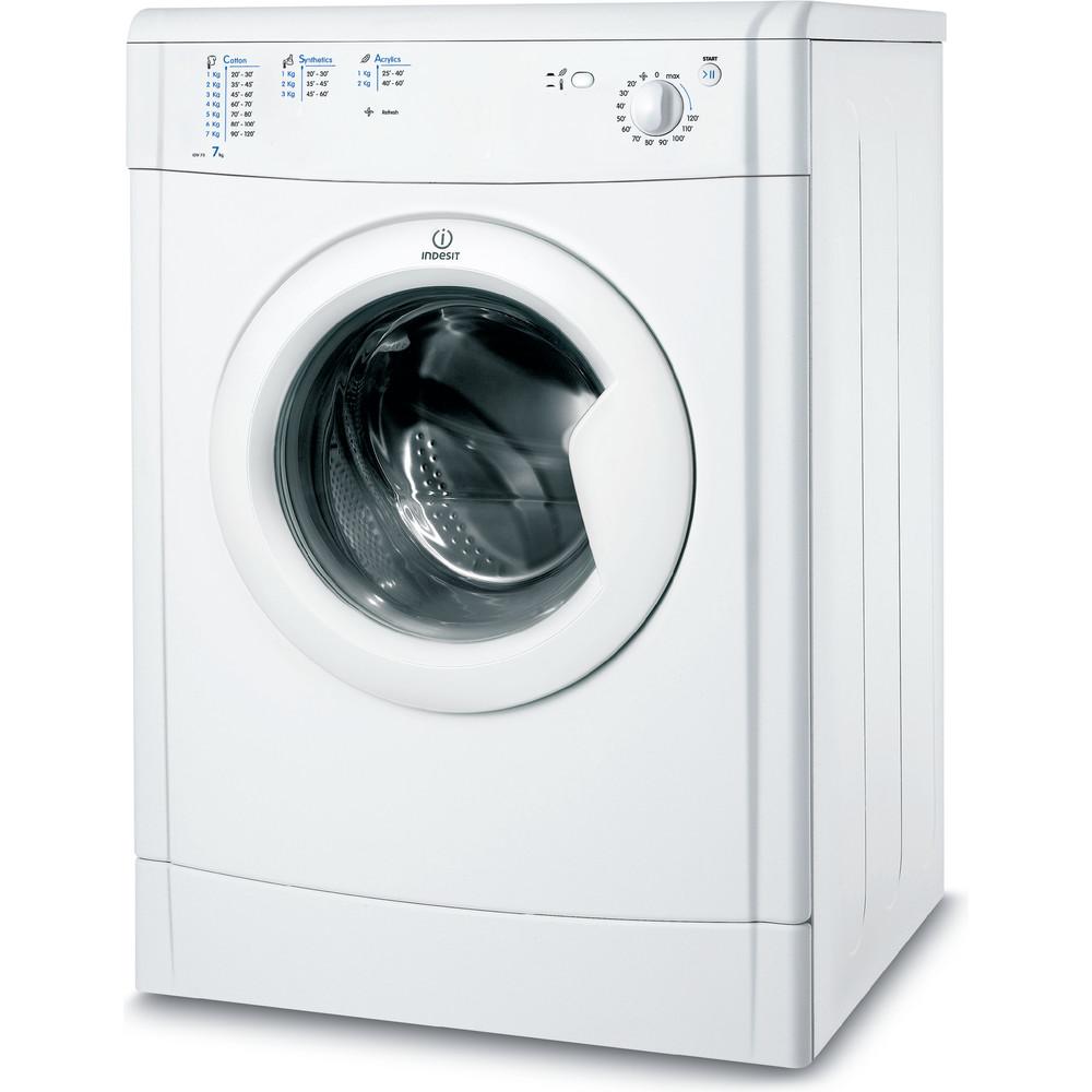 Indesit Dryer IDV 75 (UK) White Perspective