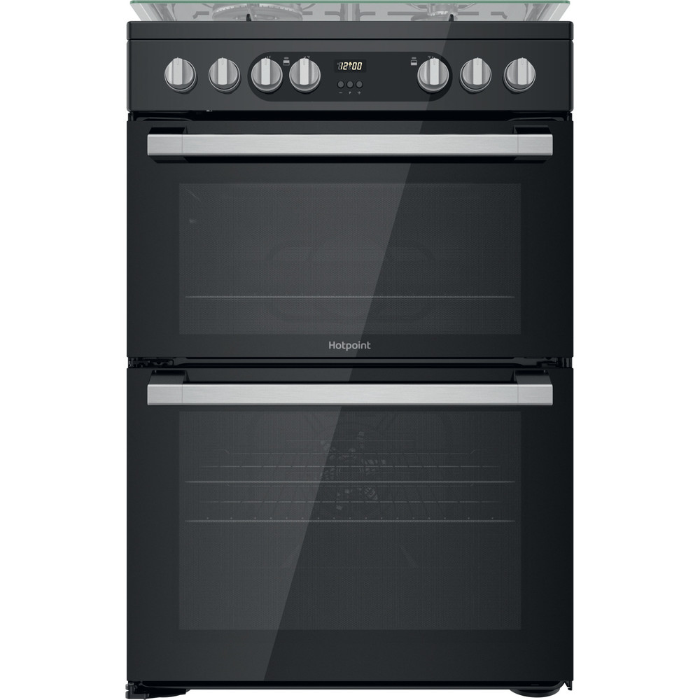 Hotpoint Double Cooker HDM67G9C2CSB/UK Black A Frontal