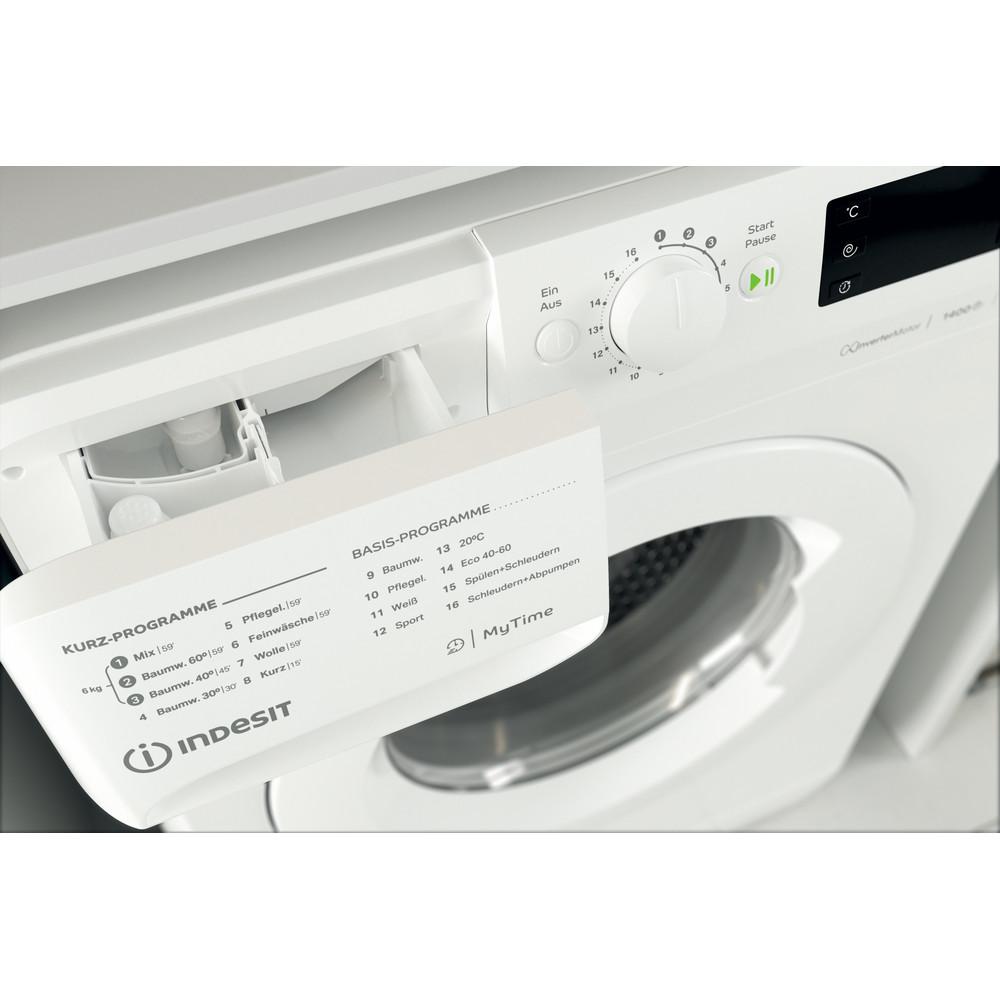 Indesit Waschmaschine Freistehend MTWE 61483E W DE Weiß Frontlader D Drawer