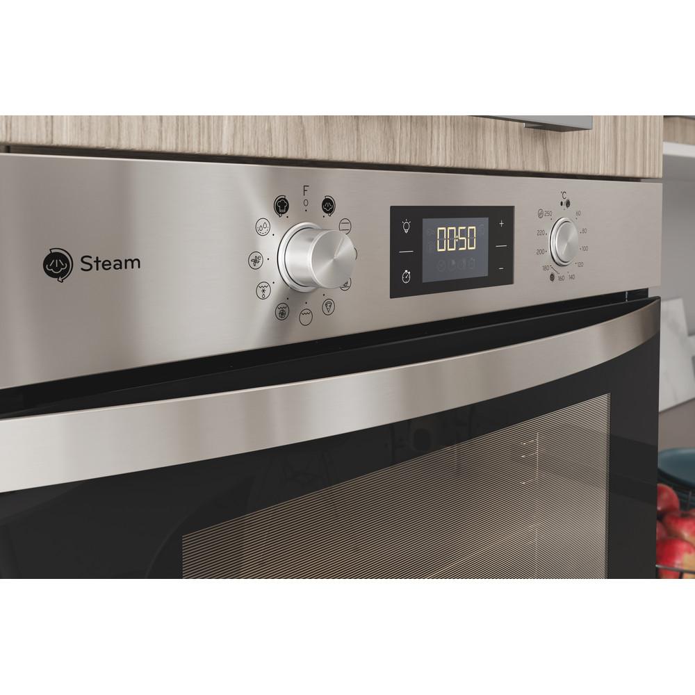 Indesit Trouba Vestavné IFWS 3841 JH IX Elektrický A+ Lifestyle control panel