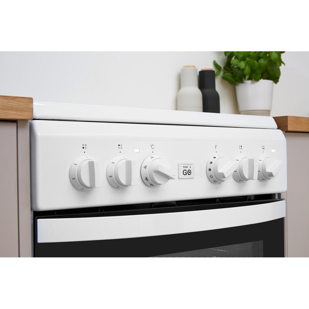 Indesit Kuchenka IS5V8GMW/E Biel Elektryczne Lifestyle control panel