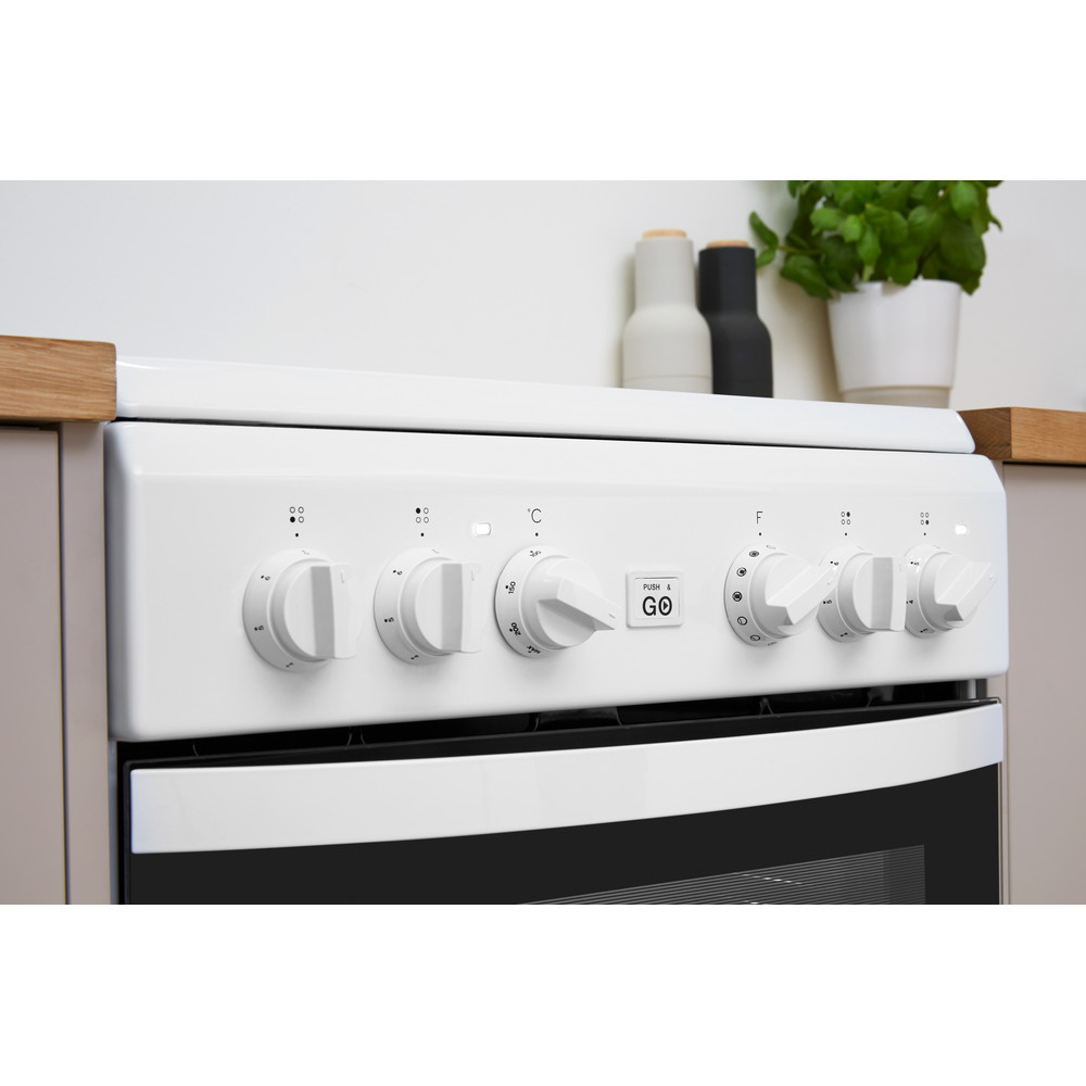 Indesit Plīts IS5V8GMW/E Balts Electrical Lifestyle control panel