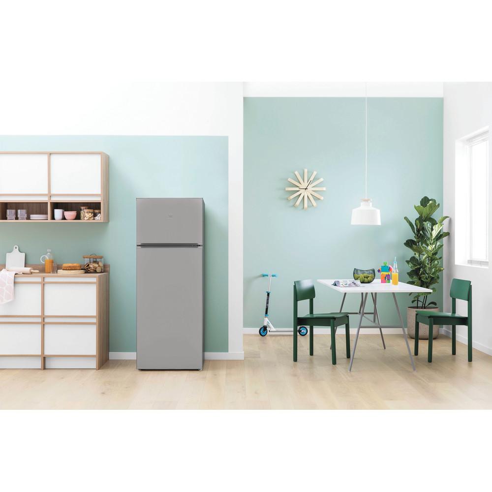 Indesit Combinación de frigorífico / congelador Libre instalación I55TM 4110 X 1 Inox 2 doors Lifestyle frontal
