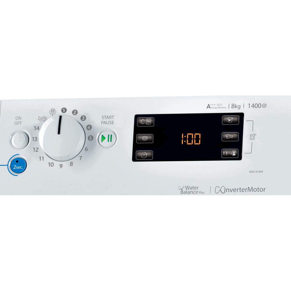 Indesit Pračka Volně stojící BWE 81484X WSSS EU Bílá Front loader A+++ Control panel