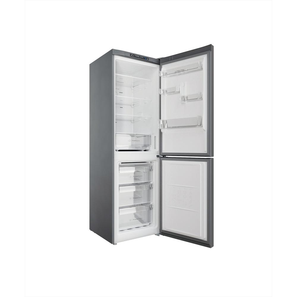 Indesit Combinación de frigorífico / congelador Libre instalación INFC8 TA23X Inox 2 doors Perspective open