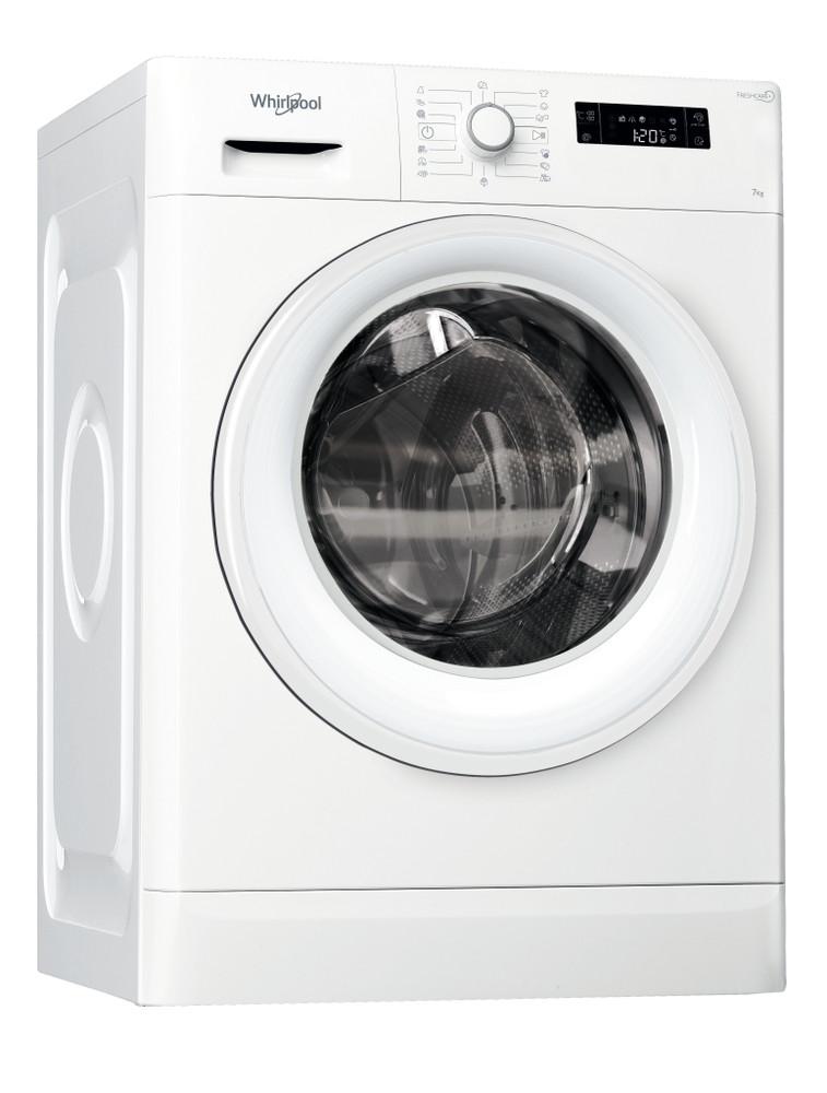 Whirlpool Waschmaschine Standgerät FWF71483WE EU Weiss Frontlader A+++ Perspective