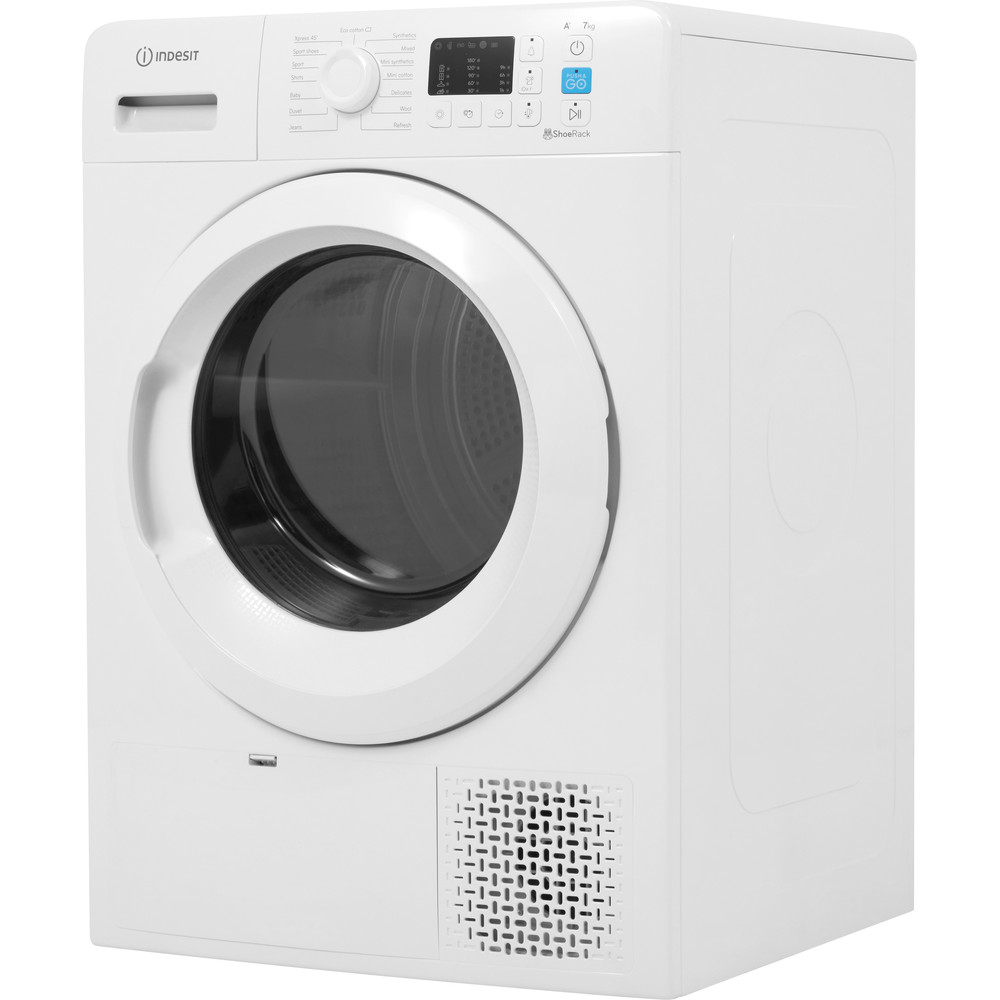 Indesit Dryer YT M10 71 R UK White Perspective