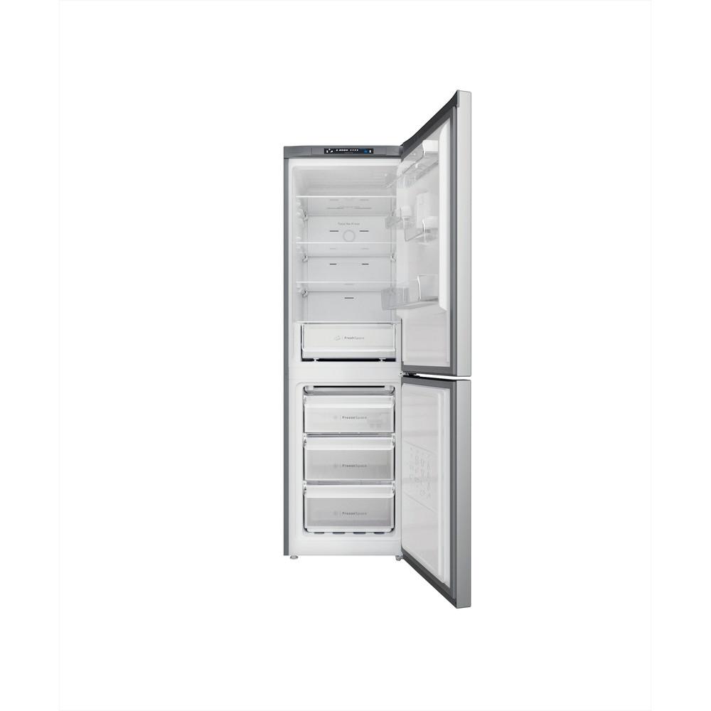 Indesit Combinación de frigorífico / congelador Libre instalación INFC8 TA23X Inox 2 doors Frontal open