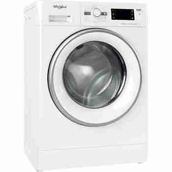 Whirlpool Maşină de spălat rufe Independent FWSG 71283 SV EE N Alb Încărcare frontală D Perspective