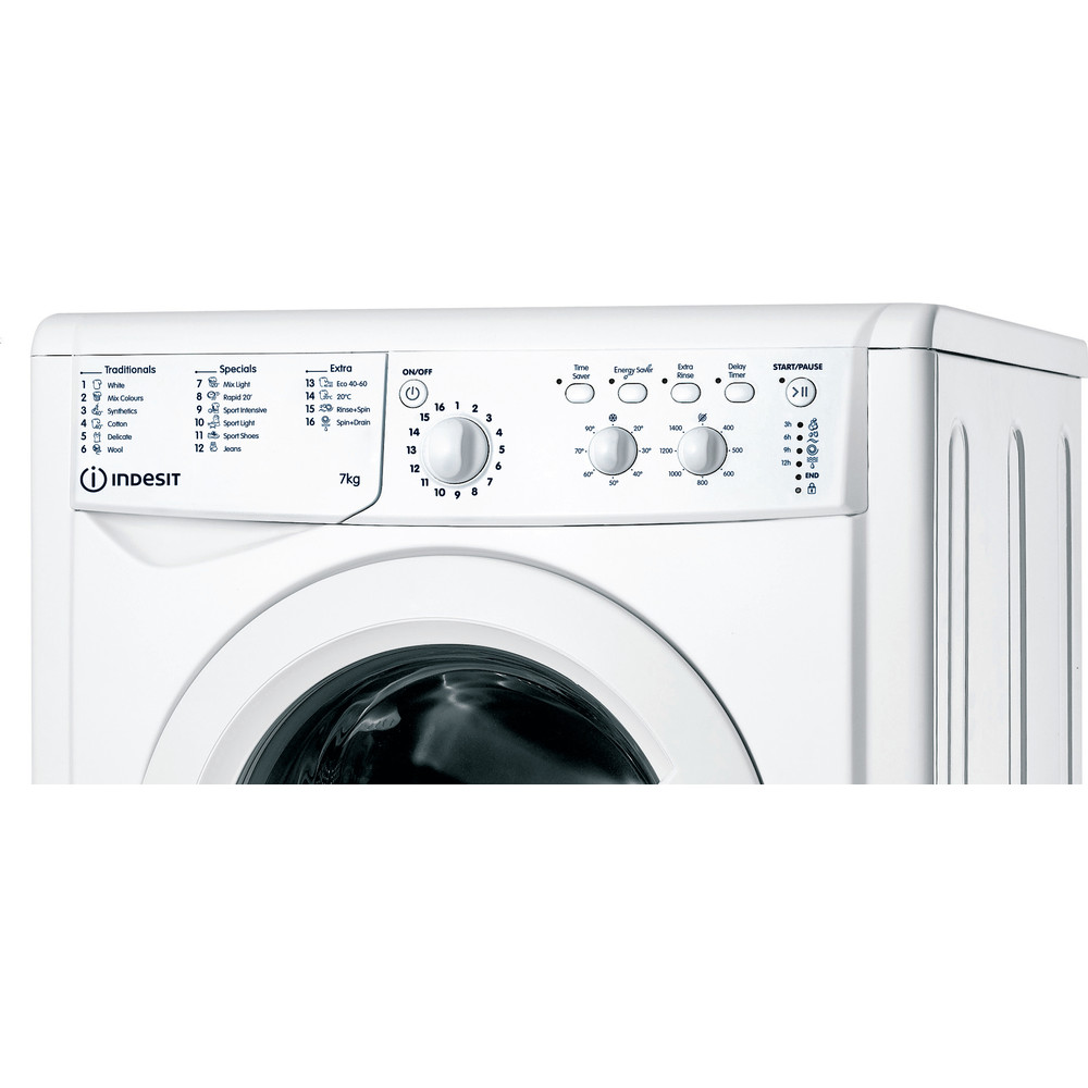 Indesit Washing machine Free-standing IWC 71452 W UK N White Front loader E Control panel