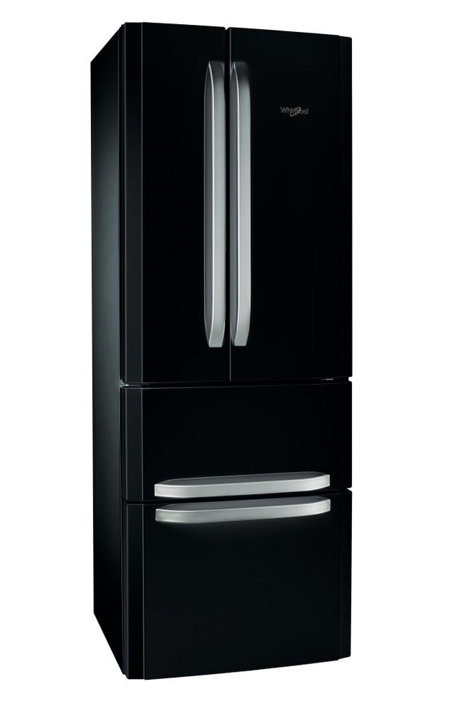 Whirlpool Hűtő/fagyasztó kombináció Szabadonálló W4D7  BC2 Fekete 3 doors Perspective