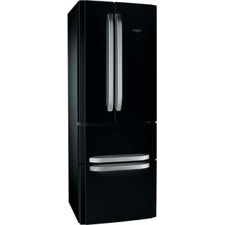 Whirlpool Kombinētais ledusskapis/saldētava Brīvi stāvošs W4D7  BC2 Melna 3 doors Perspective