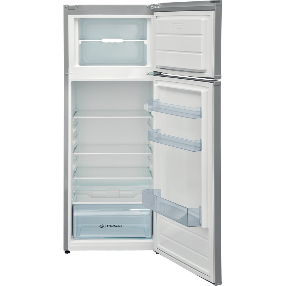 Indesit Combinazione Frigorifero/Congelatore A libera installazione I55TM 4110 X Inox 2 porte Frontal open