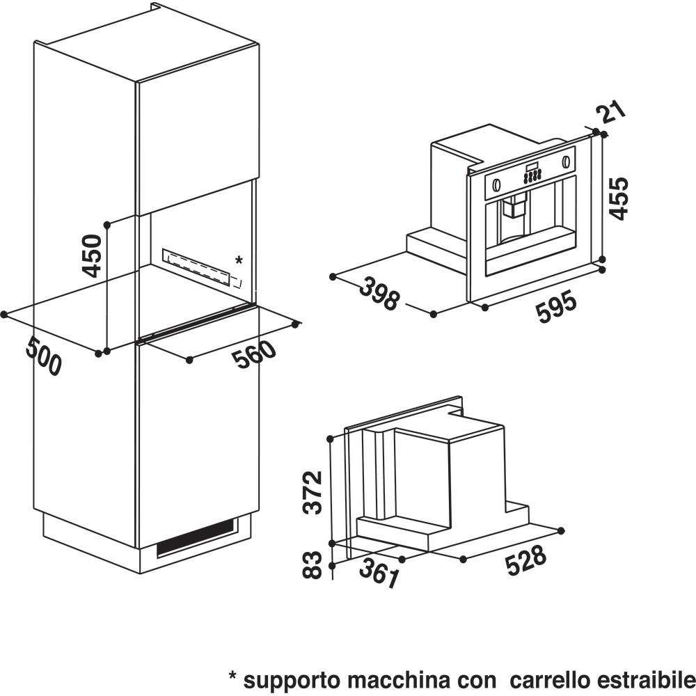 Whirlpool Built-In Coffee Machine - ACE 102 IXL