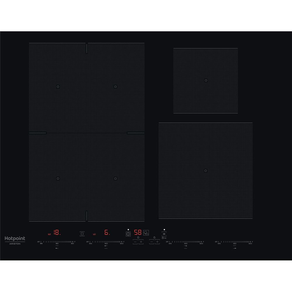 Hotpoint_Ariston Piano cottura ACOH 654 MF/NE Nero Induction vitroceramic Frontal