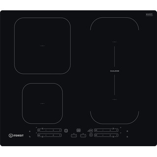 Indesit Kookplaat IB 65B60 NE Zwart Induction vitroceramic Frontal