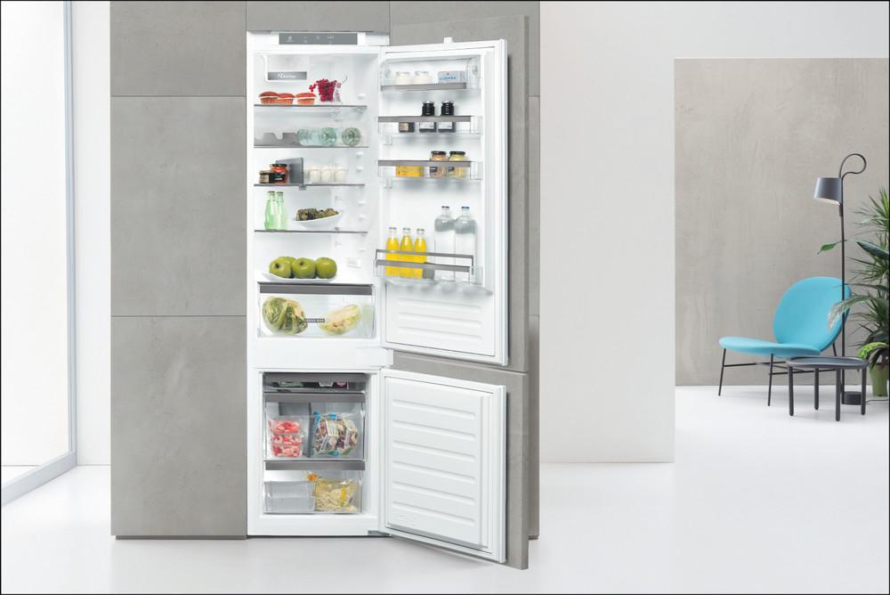 Whirlpool Hűtő/fagyasztó kombináció Beépíthető ART 9811 SF2 Fehér 2 doors Lifestyle frontal open