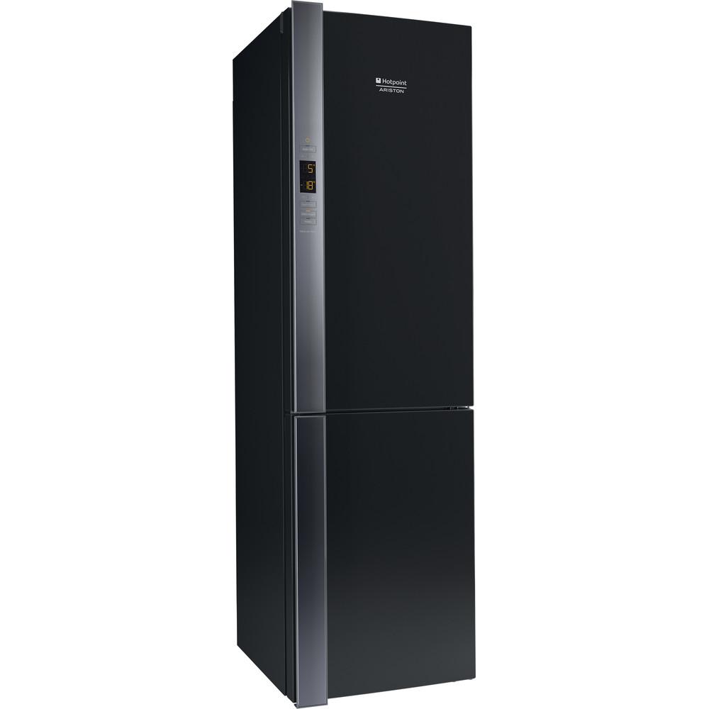 Hotpoint_Ariston Комбинированные холодильники Отдельностоящий HF 9201 B RO Черный 2 doors Perspective