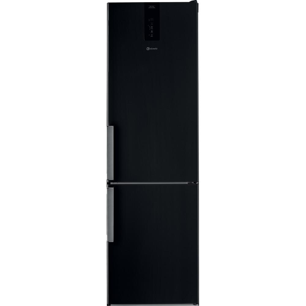 Bauknecht Kühl-Gefrierkombination Standgerät KGDNF 203GD SX SW Black/Inox 2 Türen Frontal
