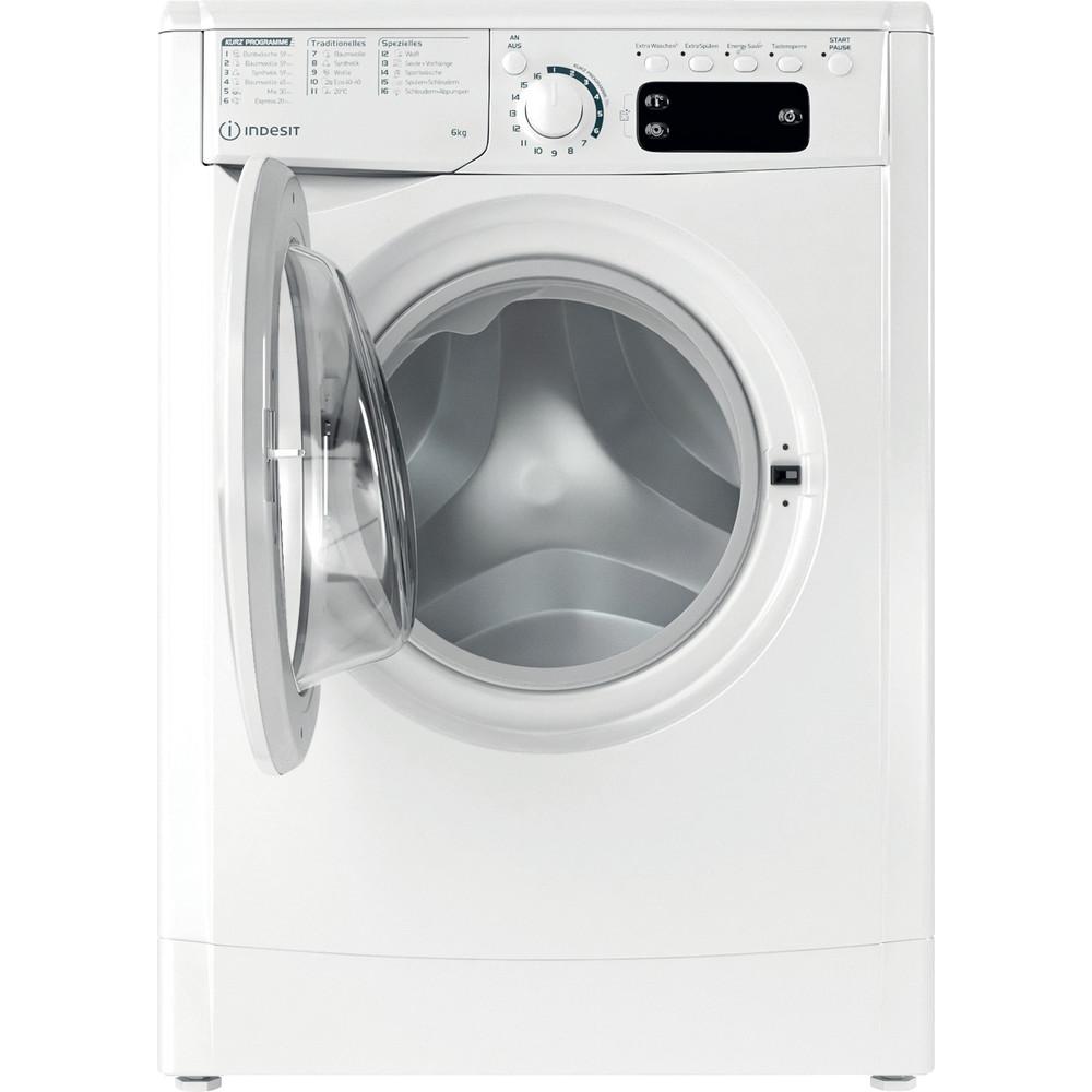 Indesit Waschmaschine Freistehend EWSE 61251 W DE N Weiß Frontlader F Frontal open