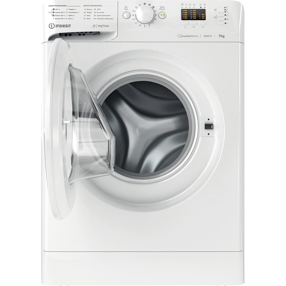 Indesit Waschmaschine Freistehend MTWA 71483E W DE Weiß Frontlader D Frontal open