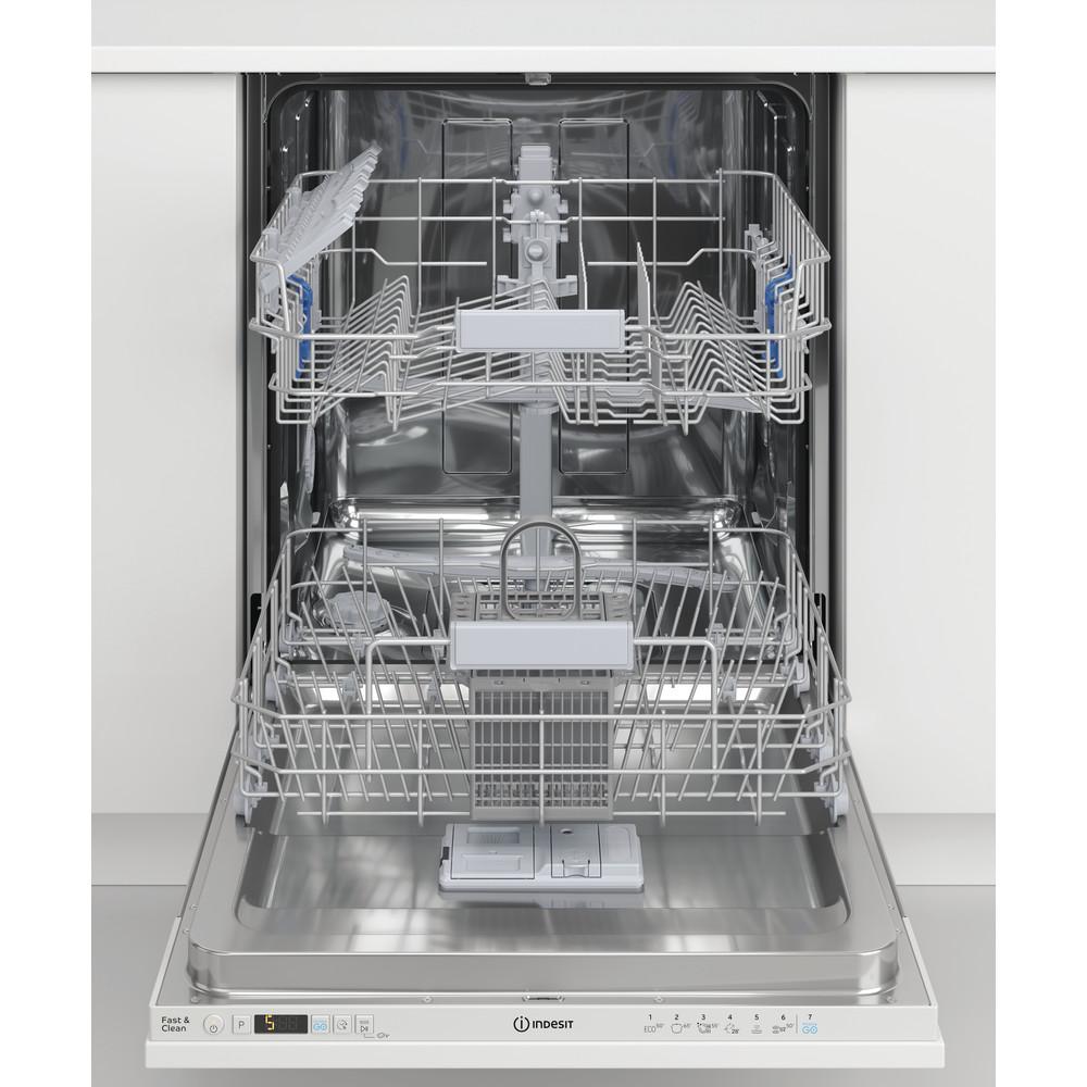 Indesit Lave-vaisselle Encastrable DIC 3B+16 A Tout intégrable F Frontal open