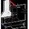 Indesit Аспиратор Вграден IHPC 6.4 LM X Инокс За монтиране на стена Механично Technical drawing