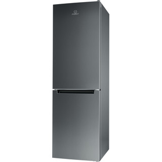 Indesit Køleskab/fryser kombination Fritstående LI8 SN1E X Rustfrit stål 2 doors Perspective