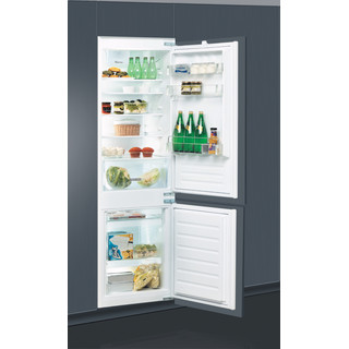 Whirlpool Külmik-sügavkülmik Integreeritav ART 66102 Valge 2 doors Perspective open