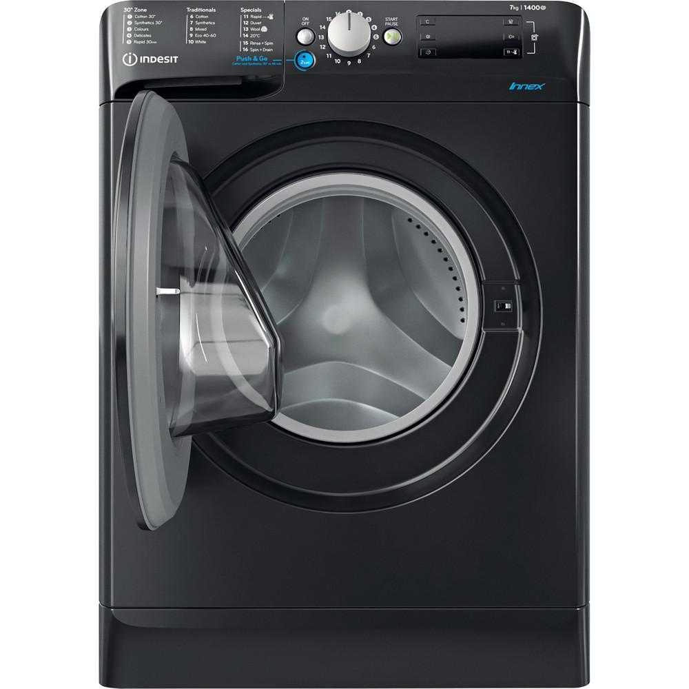 Indesit Washing machine Free-standing BWE 71452 K UK N Black Front loader E Frontal open