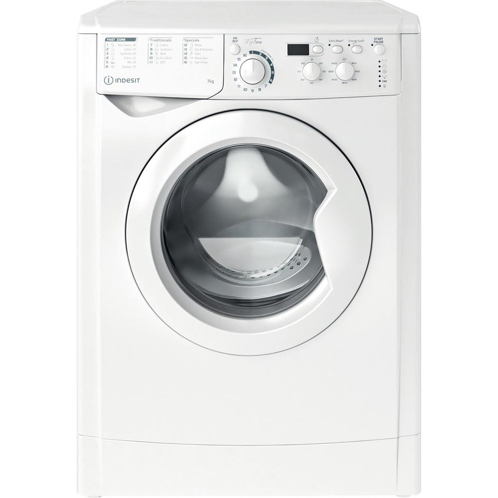 Indesit Washing machine Free-standing EWD 71452 W UK N White Front loader E Frontal