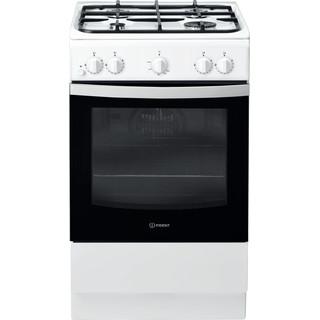 Indesit Cucina con forno a doppia cavità IS5G0KMW/IT Bianco GAS Frontal