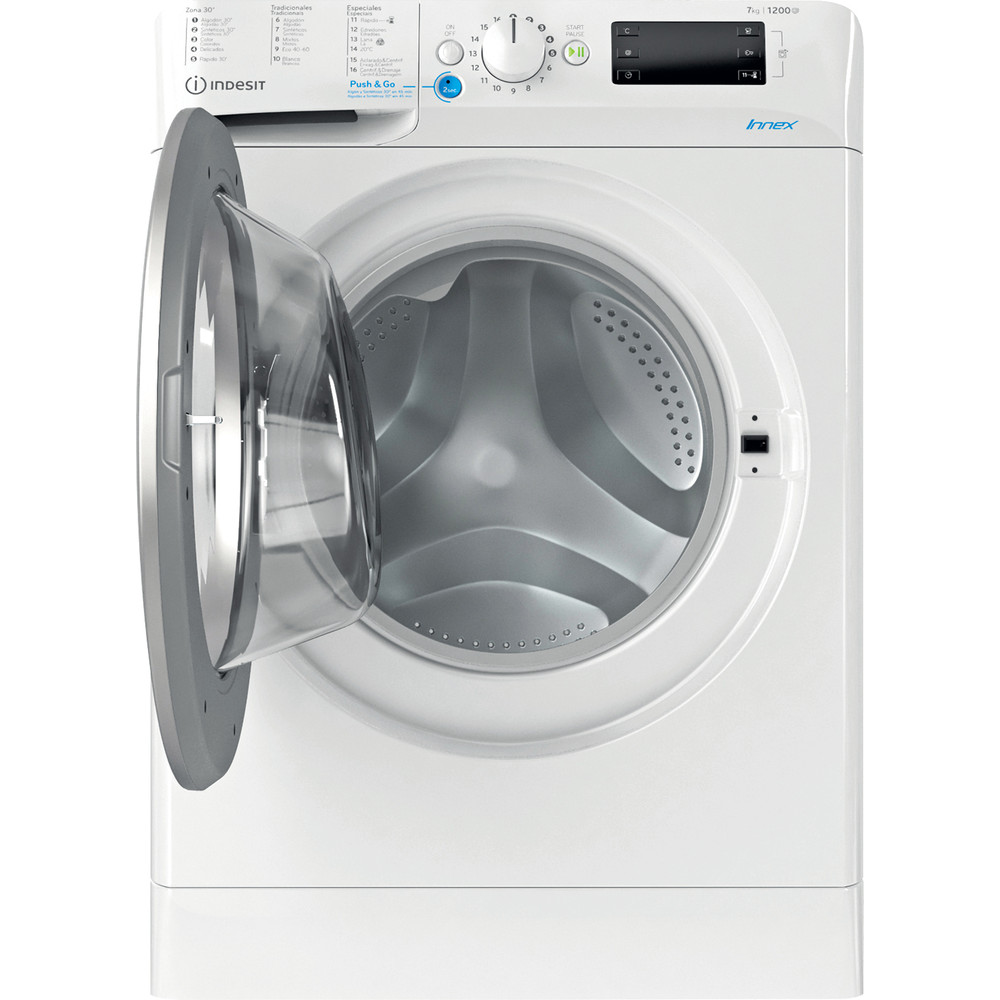 Indesit Máquina de lavar roupa Livre Instalação BWE 71252X WS SPT N Branco Carga Frontal E Frontal open