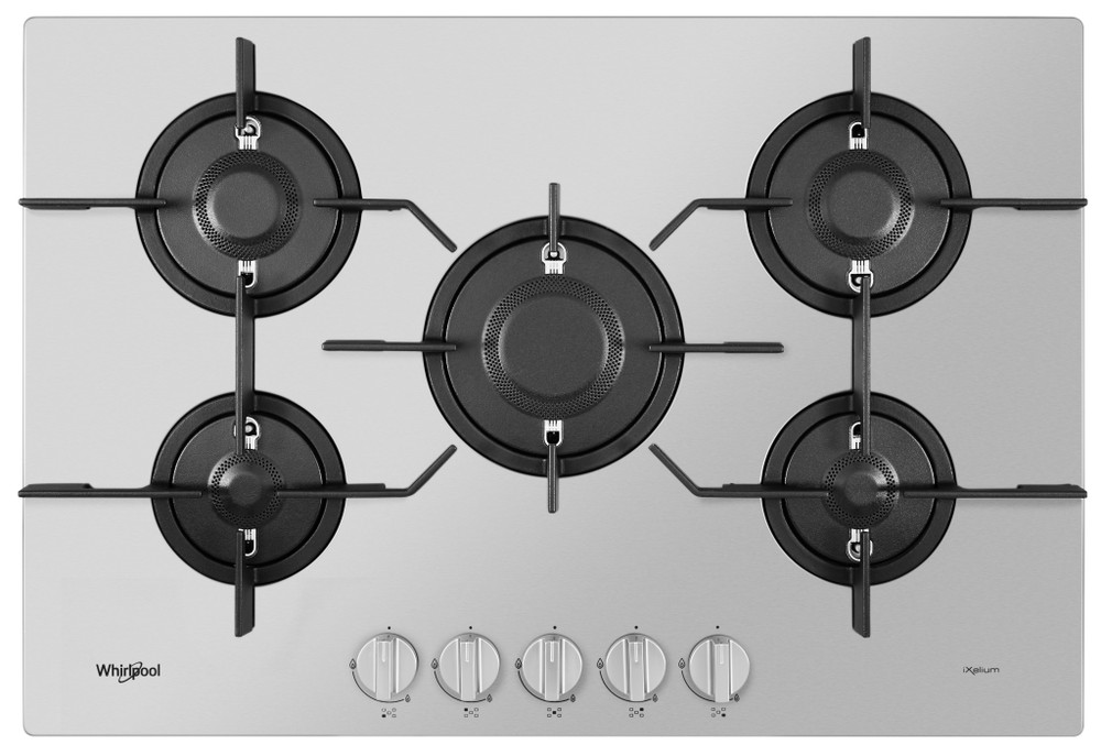 Whirlpool Table de cuisson PMW 75D2/IXL Inox Gaz Frontal