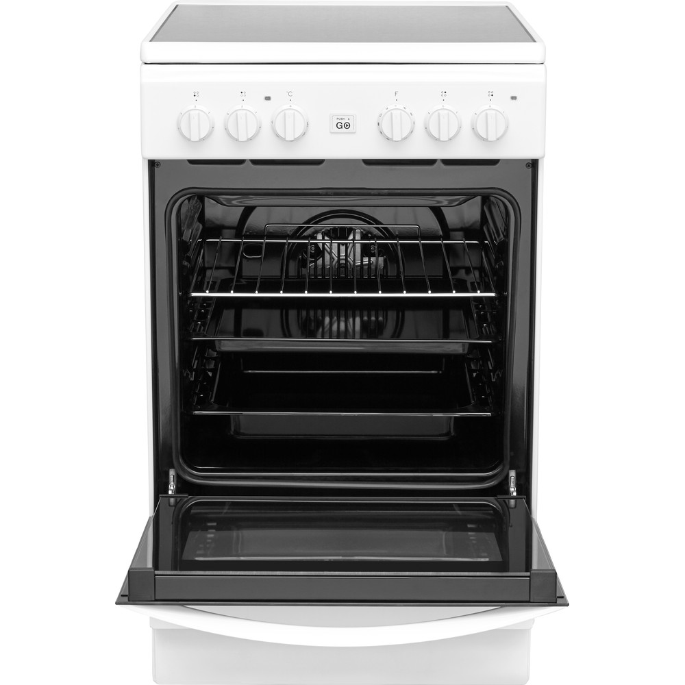 Indesit Plīts IS5V8GMW/E Balts Electrical Frontal open