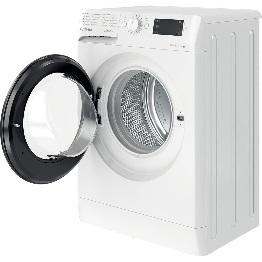 Indsit Maşină de spălat rufe Independent MTWSE 61252 WK EE Alb Încărcare frontală F Perspective open
