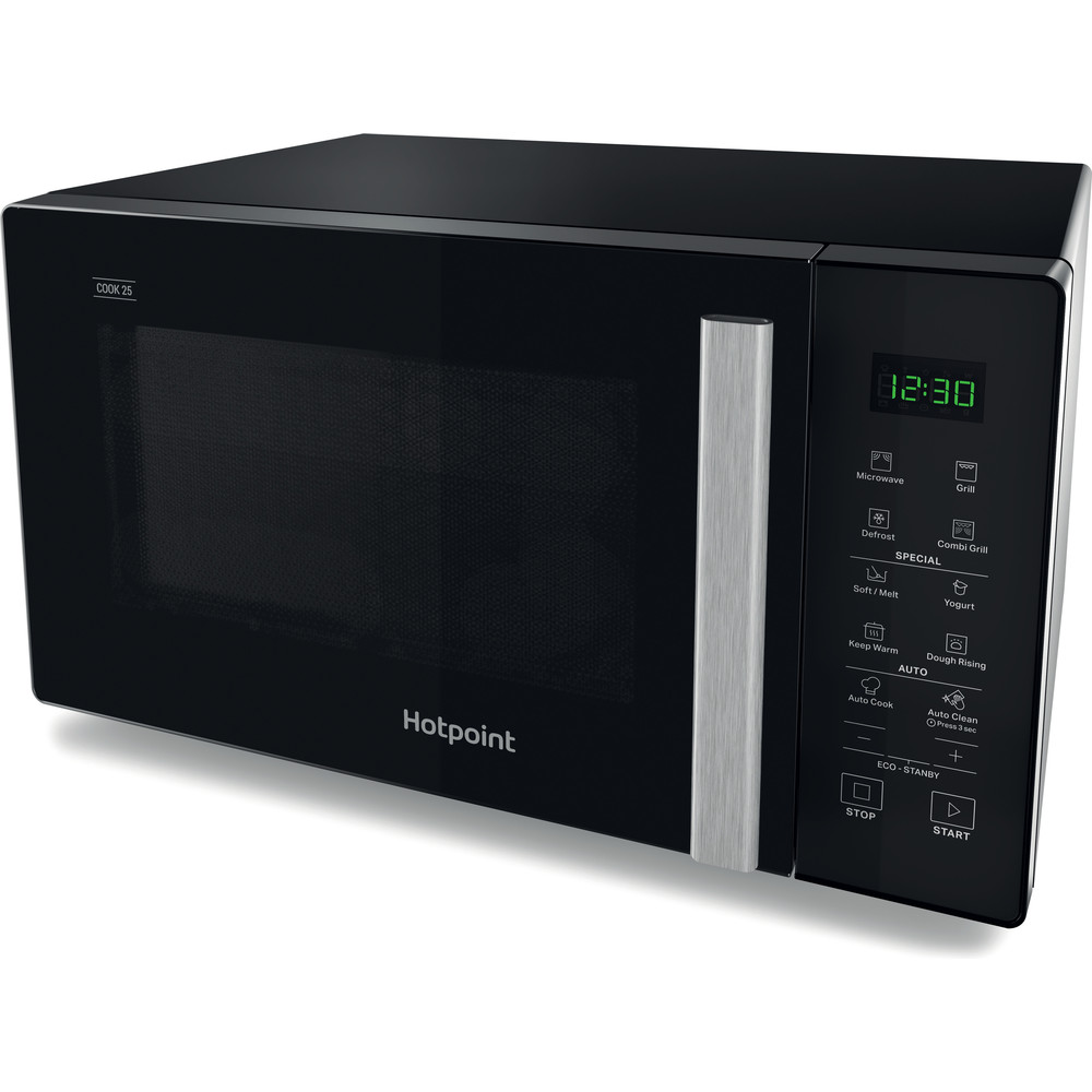 Hotpoint Microwave Free-standing MWH 253 B Black Electronic 25 MW+Grill function 900 Perspective