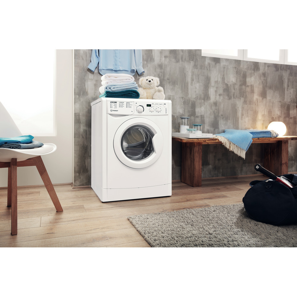 Indesit Washing machine Free-standing EWD 71452 W UK N White Front loader A+++ Lifestyle perspective