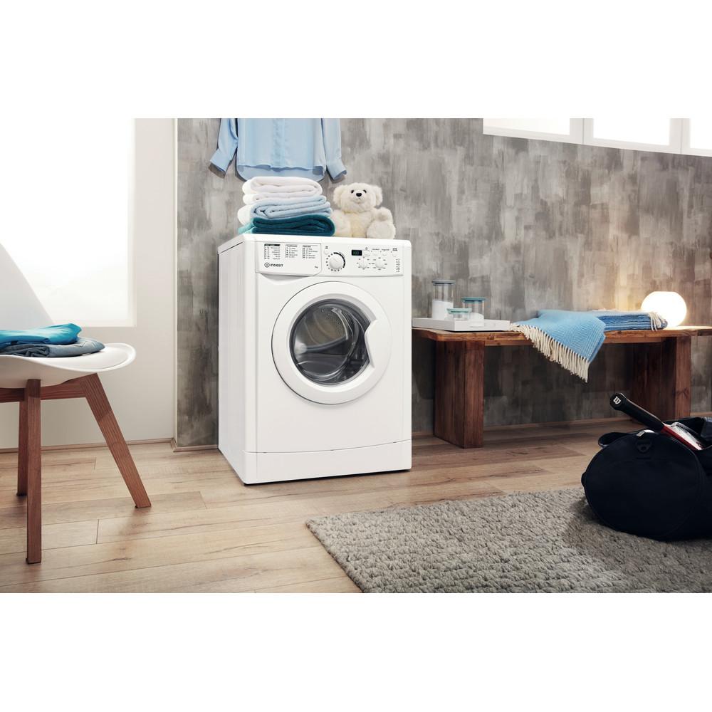 Indesit Washing machine Free-standing EWD 71452 W UK N White Front loader E Lifestyle perspective