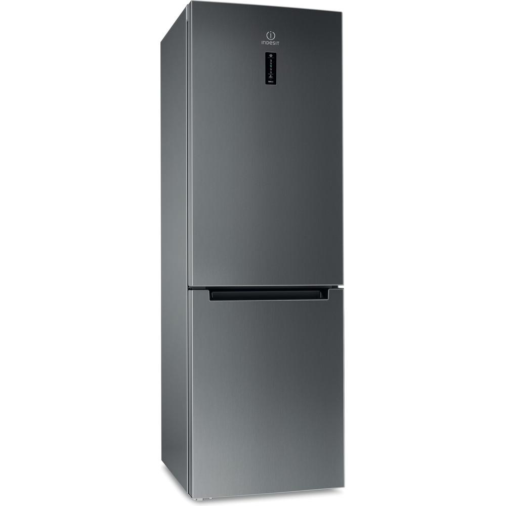 Indesit Холодильник с морозильной камерой Отдельностоящий DF 5181 X M Inox 2 doors Perspective