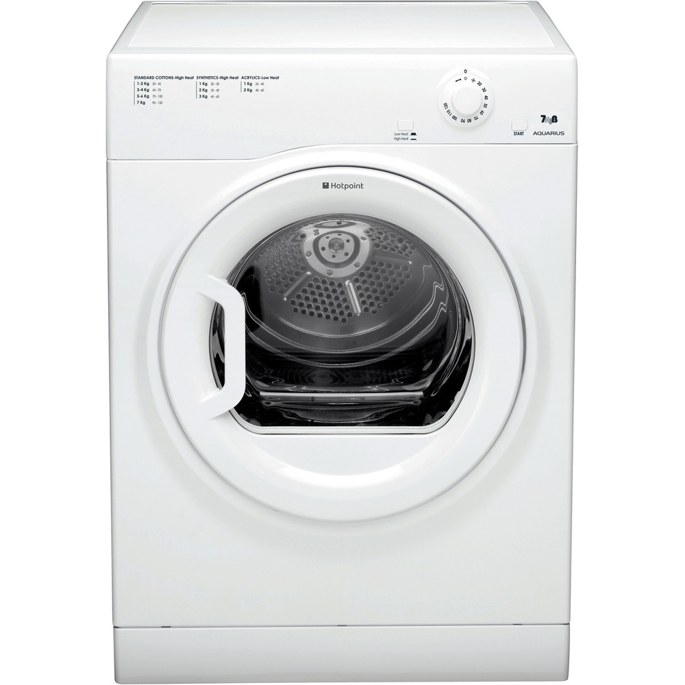 Hotpoint Dryer TVM 70B GP (UK) White Frontal