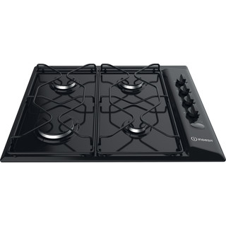 Indesit HOB PAA 642 /I(BK) Black GAS Frontal top down