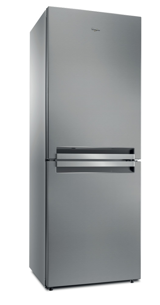 Whirlpool Fridge Freezer Free-standing B TNF 5011 OX Optic Inox 2 doors Perspective
