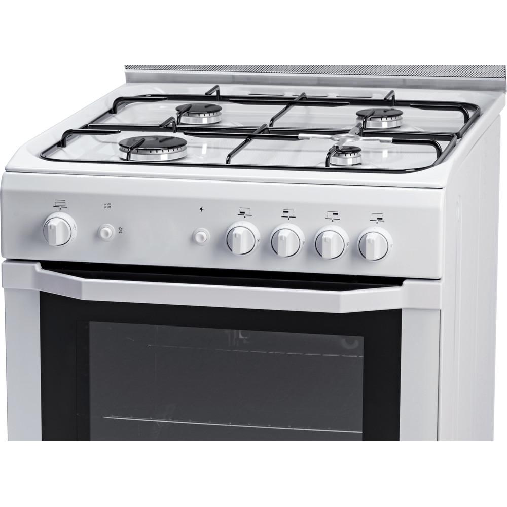 Indesit Cuisinière I6GGC2G(W)/FR Blanc Control panel